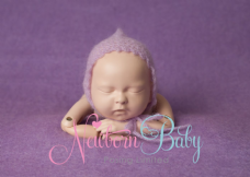Mohair Bonnets & Hair Tie Set - Lilac